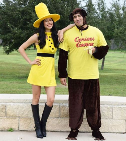 curious george halloween costume - 50 Best Couples Halloween Costume Ideas for 2019