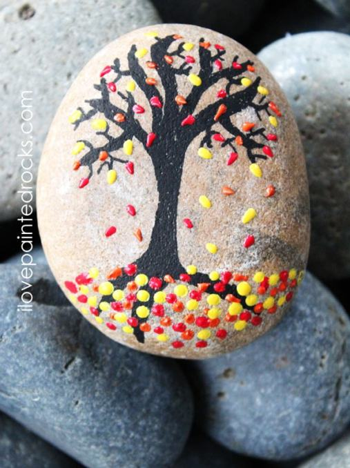 autumn painted rocks - 30+ Fall Craft Ideas to Make and Sell for Extra Money