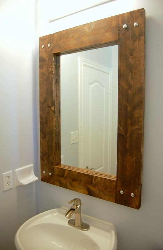 bathroom mirror farmhouse diy - 18 Cheap and Easy DIY Rustic Farmhouse Home Decor Ideas