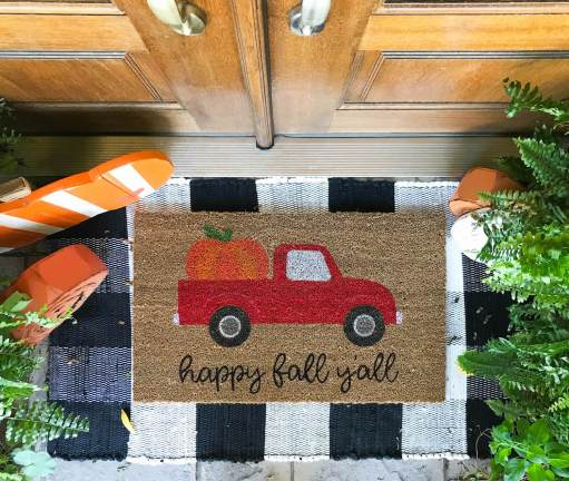 diy fall doormat ideas - 30+ Fall Craft Ideas to Make and Sell for Extra Money