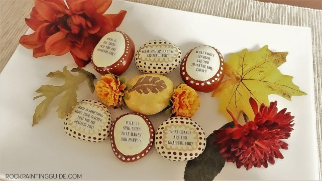 diy fall gratitude rocks - 30+ Fall Craft Ideas to Make and Sell for Extra Money