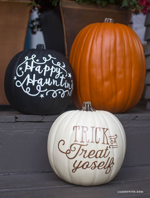 diy fall halloween vinyl pumpkins - 30+ Fall Craft Ideas to Make and Sell for Extra Money