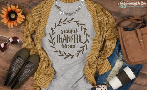 diy thankful t shirt - 30+ Fall Craft Ideas to Make and Sell for Extra Money