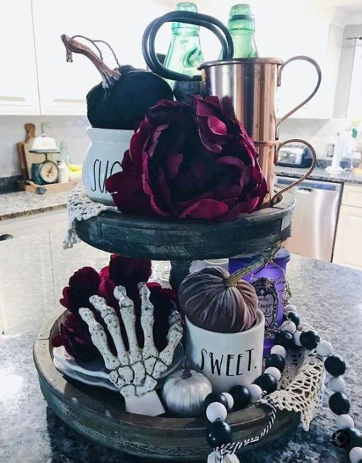 halloween tray decor - 19 Fabulous Halloween Tiered Tray Decor Ideas