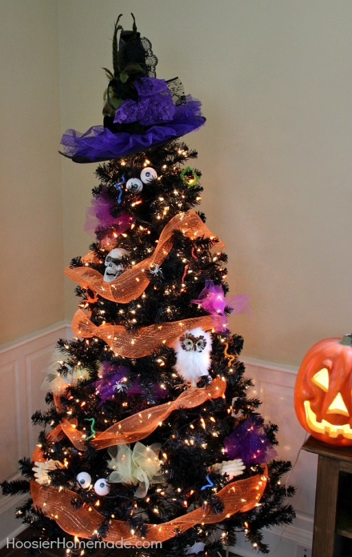 owl skulls halloween tree - 18 Best Halloween Christmas Tree Decorating Ideas for 2019