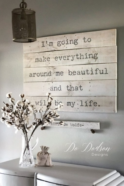 quote wall art decor ideas - 18 Cheap and Easy DIY Rustic Farmhouse Home Decor Ideas