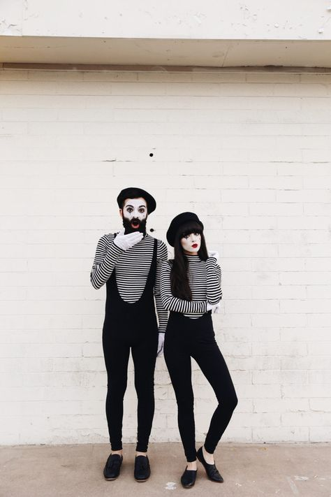 mimes halloween costume 1 - 50 Best Couples Halloween Costume Ideas for 2019