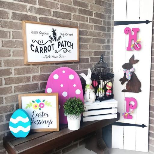 Easter front porch decor
