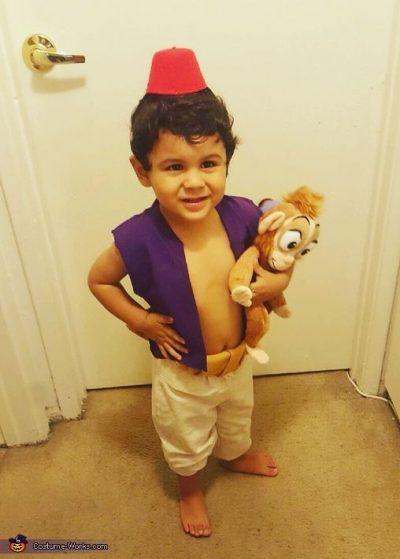 He's so CUTE!! OMG! | Aladdin Halloween Costume Idea for Toddler Boy