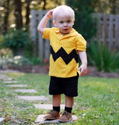 He is just so ADORABLE! | Charlie Brown Halloween Costume Idea for Toddler Boy