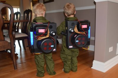 Who ya' gonna call...GHOST BUSTERS! | DIY Ghost Busters Halloween Costume Idea for Boy Toddlers