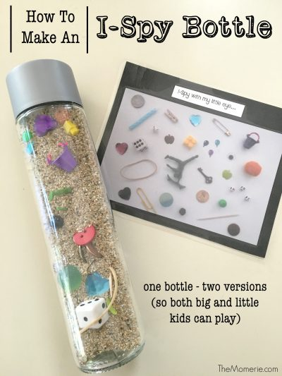 THIS works amazing for calming down toddlers during temper tantrums or just to keep them busy for a couple of hours. | DIY I-Spy Sensory Bottle Idea for Toddlers
