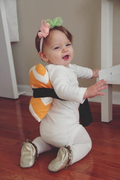 She's SO CUTE! | DIY Sushi Halloween Costume Idea for Toddler Girls