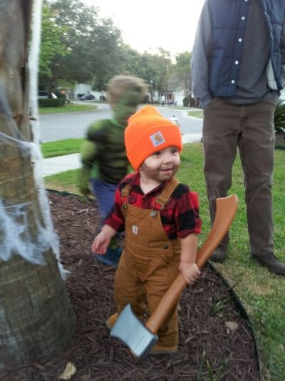 The CUTEST lumberjack I have ever seen! | DIY Halloween Costume Ideas for Toddler Boys