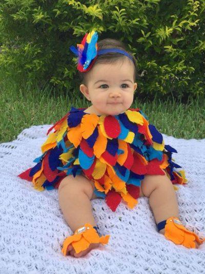 She's so ADORABLE! | DIY Parrot Halloween Costume for Toddler Girl
