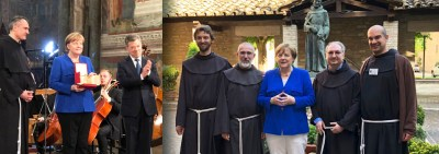 "German Chancellor Angela Merkel awarded ""Lamp of Peace"" in Assisi"