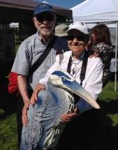 Fenja, Ernie and GBH at Bird Day Fair 2014.