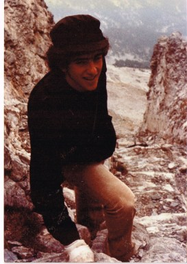 Rob climbing Mount Olympus in the 1970s