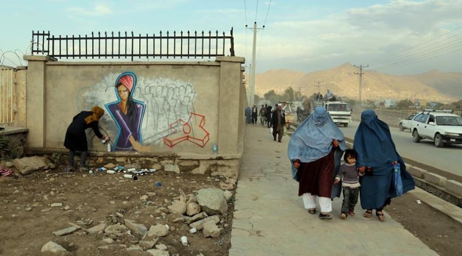 Shamsia Hassani. Burqa 2