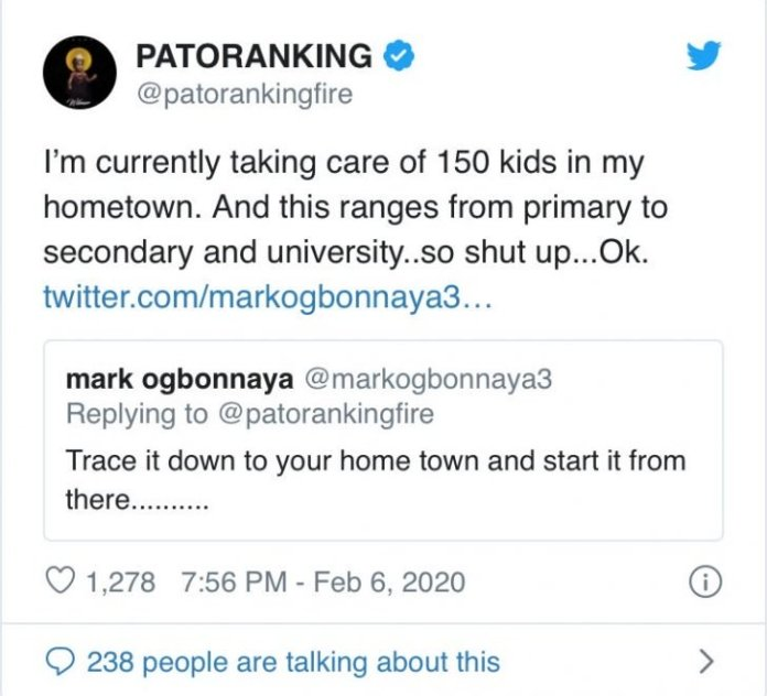 Patoranking Says He's Sponsoring 150 Kids In His Hometown 2