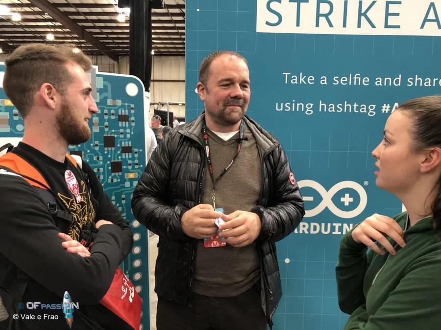 A San Francisco alla Maker Faire Bay Area valeria cagnina francesco baldassarre massimo banzi ofpassion arduino