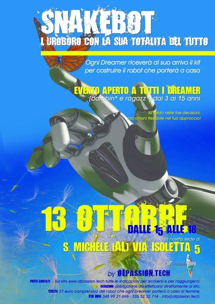 snakebot robot alessandria laboratorio valeria cagnina francesco baldassarre ofpassion