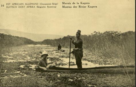 אפריקני משיט סירה עם קולוניאליסט