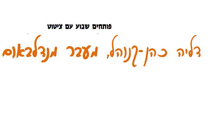 """דליה כהן-קנוהל, """"מעבר מנדלבאום"""""""