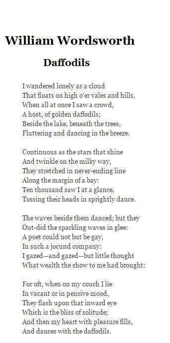 daffodils-poem