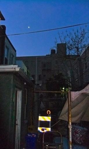 Nighttime arrival in my new neighbourhood.