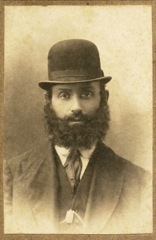 Great-grandfather Nahum Chesno, Odessa. His father beat him up for trying to play the violin.