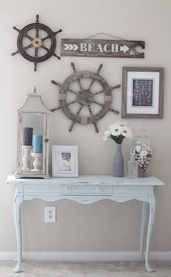 DIY Ideas   Tutorials for Nautical Home Decoration DIY Rustic Look Beach House Decor