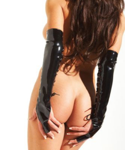 Pvc Lace Up Gloves