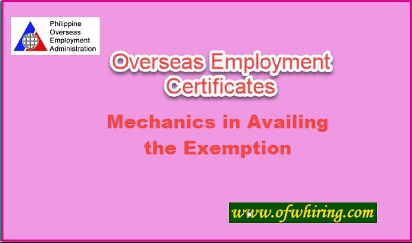 How-to-be-Exempted-in-Getting-the-Overseas-Employment-Certificate
