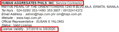 HUMAN_AGGREGATES_PHILIPPINES_INC._License_Validity