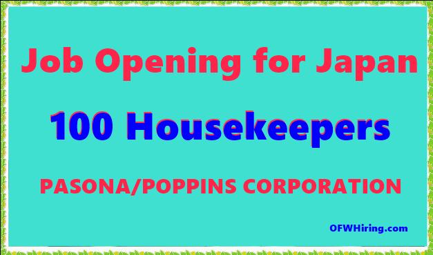 Japan-Job-Hiring-for-Housekeeper