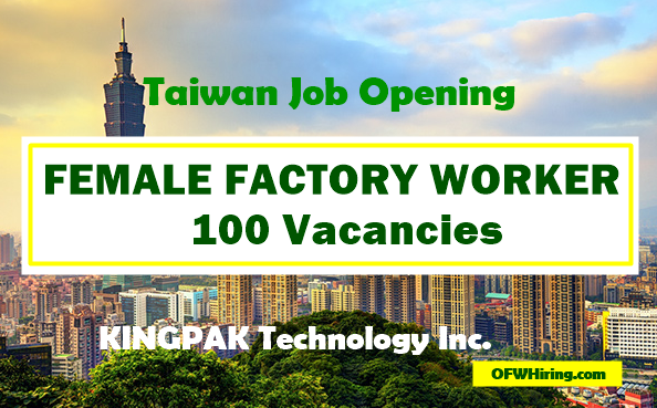 Female-Factory-Worker-Job-Opening-for-Taiwan