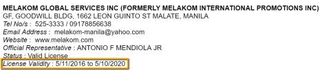 MELAKOM_GLOBAL_SERVICES_INC._License_Validity