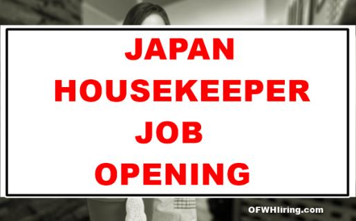 Japan-Housekeeper-Job-Opening