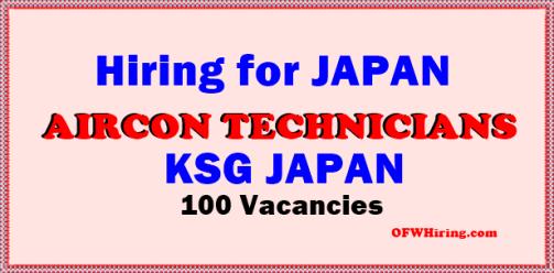Japan-Job-Hiring-for-Aircon-Technicians