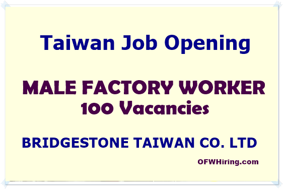 Taiwan-Job-Opening-for-Factory-Worker