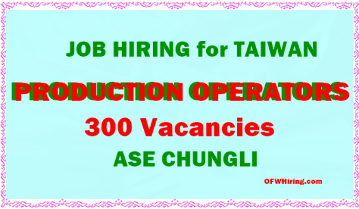 Taiwan-Job-hiring-for-Production-Worker