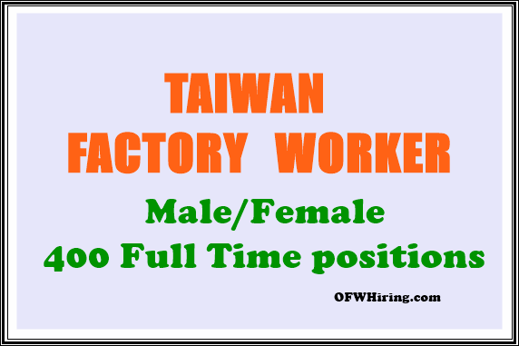 Factory-Worker-Taiwan-Job-Hiring