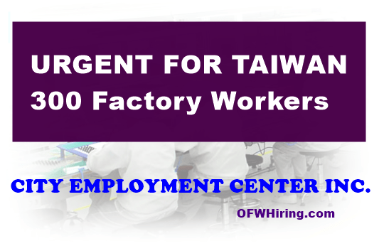 Factory-Worker-Taiwan-Job-Hiring-2019