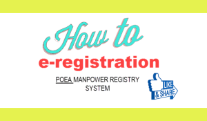 poea online registration guide