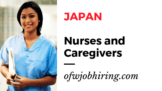JAPAN Job Hiring for Nurses and Caregivers 2019