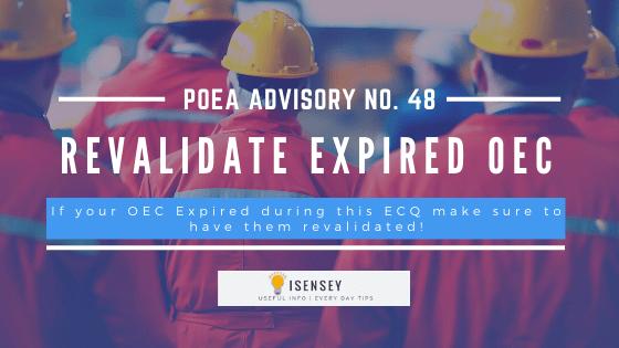 poea advisory No. 48