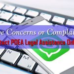 How to Submit your Concerns to POEA Legal Assistance ONLINE