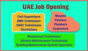 United-Arab-Emirates-Job-Hiring-Carpenters-Masons-Painters-Electricians-Technicians-Supervisors