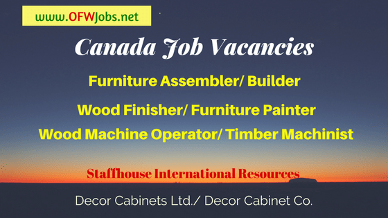 Canada-Furniture-Workers-Job-Opening